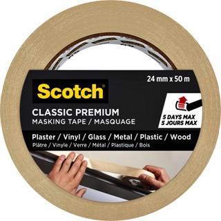 Afplaktape Scotch Premium Classic 24mmx50m beige