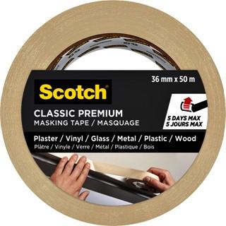 Afplaktape Scotch Premium Classic 36mmx50m beige