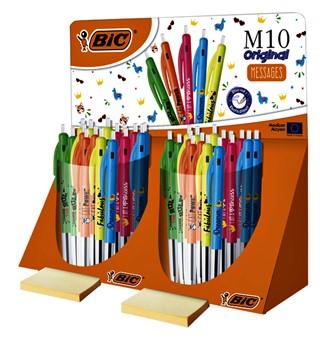 Balpen Bic M10 display à 80 stuks