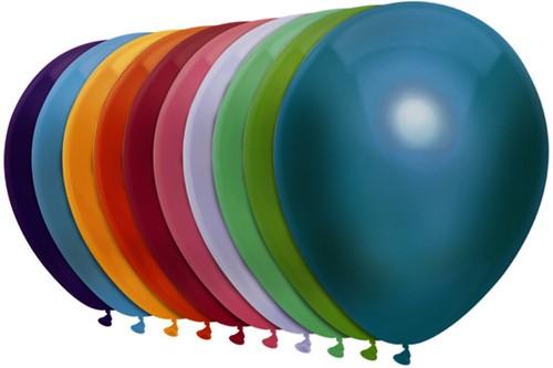 Ballon Haza uni 30cm 50 stuks metallic assorti