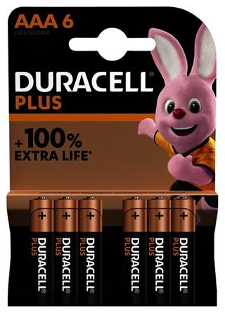 Batterij Duracell Plus 6xAAA