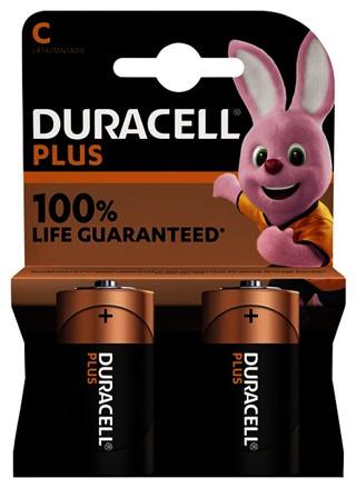 Batterij Duracell Plus 2xC
