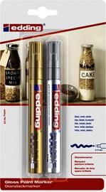 Viltstift edding 750 lakmarker rond 2-4mm blister goud en zilver