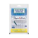 Balpen Paper Mate Entry Line 045 0.7mm blister à 15 stuks blauw