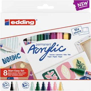 Acrylmarker edding starterskit groot realistisch