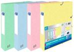 Elastobox Oxford Top File+ A4 40mm pastel assorti