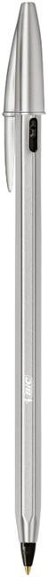 Balpen Bic Cristal Re-new zwart blister 1 pen + 2 vullingen