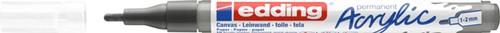 Acrylmarker edding e-5300 fijn antraciet