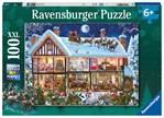 Puzzel Ravensburger Kerstmis thuis 100 stukjes