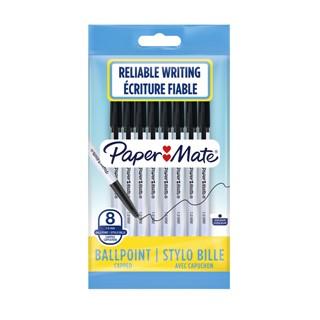 Balpen Paper Mate Entry line 045 1.0mm zwart zakje à 8 stuks