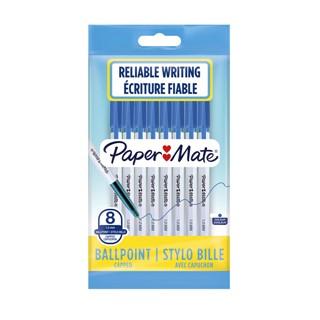 Balpen Paper Mate Entry line 045 1.0mm blauw zakje à 8 stuks
