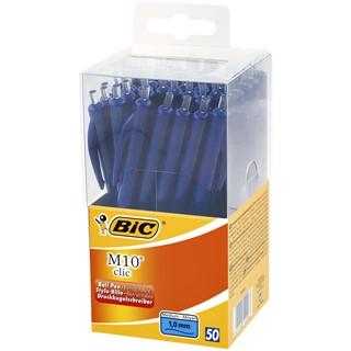 Balpen Bic M10 Tubo 50 blauw medium