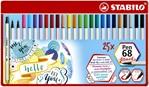 Brushstift Stabilo 568/25-32  blik à 25 stuks assorti