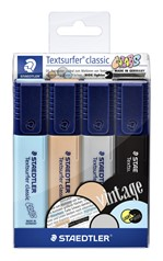 Markeerstift Staedtler 364 Textsurfer vintage set à 4 stuks assorti