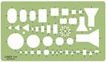 Sjabloon Linex 1184 elektro symbolen