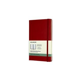Agenda 2020 Moleskine 12mnd wkly large hard rood