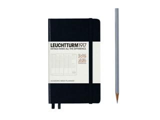 Agenda 2020 Leuchtturm black 18mnd A6