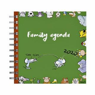 Agenda 2020 Vis vierkant familie agenda 17x17cm