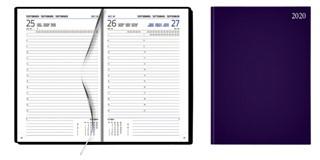 Agenda A5, dag per pagina, mat paars