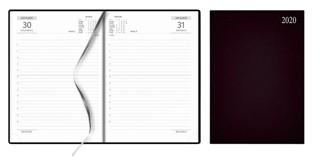Agenda A5, dag per pag. luxe omslag bruin