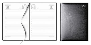 Agenda A5, dag per pagina, zwart