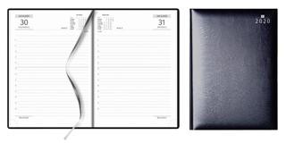 Agenda A5, dag per pagina, blauw