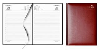Agenda A5, dag per pagina, bordeaux