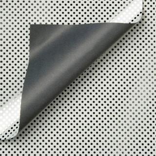Apparaatrol zilver met stippen 100mx30cm
