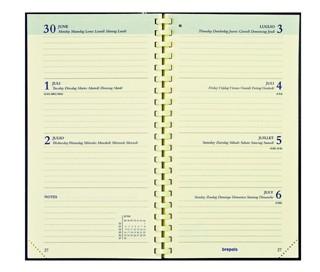 Agendavulling 2021 Brepols Interplan spiraal 7dag/2 6-talig