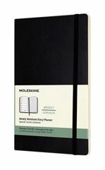 Agenda 2022  Moleskine 12mnd large soft zwart
