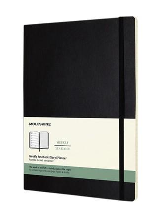 Agenda 2021 Moleskine 12mnd XL soft zwart