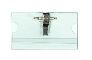 Badge Quantore met clip en speld 40x75mm