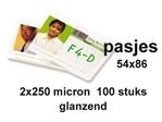 Lamineerhoes GBC creditcard 54x86mm 2x250micron 100stuks