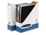 Tijdschriftcassette Bankers Box System A4  wit blauw