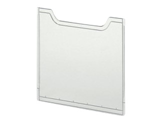 Afdekplaat multiform A4 staand helderglas