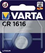 Batterij Varta knoopcel CR1616 lithium blister à 1stuk
