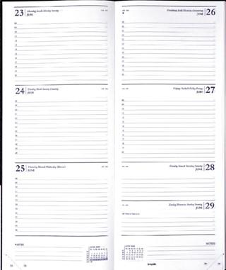 Agenda 2022 Brepols Saturnus lang 7dag/2pagina's zwart