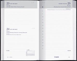 Agenda 2022 Brepols Breform 1dag/1pagina zwart