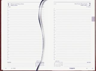Agenda 2022 Brepols Saturnus kort 1dag/1pagina bordeaux
