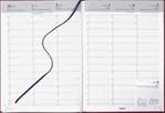 Agenda 2022 Brepols Omega 7dag/2pagina's bordeaux