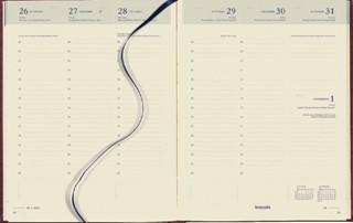 Agenda 2021 Brepols Timing 7dag/2pagina's 6-talig bordeaux