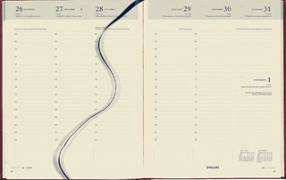Agenda 2022 Brepols Timing 7dag/2pagina's 6-talig bordeaux