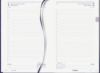 Agenda 2022 Brepols Saturnus kort 1dag/1pagina blauw