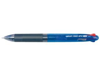 Balpen PILOT Begreen Feed 4kleuren GP4 blauwe houder 0.32mm