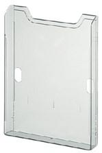 Folderhouder Exacompta wand A4 1-vak staand helder transparant
