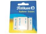 Gum Pelikan WS30 37x30x9mm potlood zacht blister à 3 stuks wit